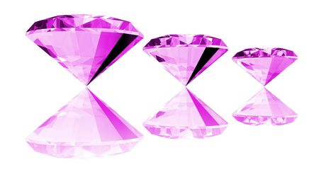 amethyst: A 3d illustration of a amethyst gem isolated on a white background. Stock Photo