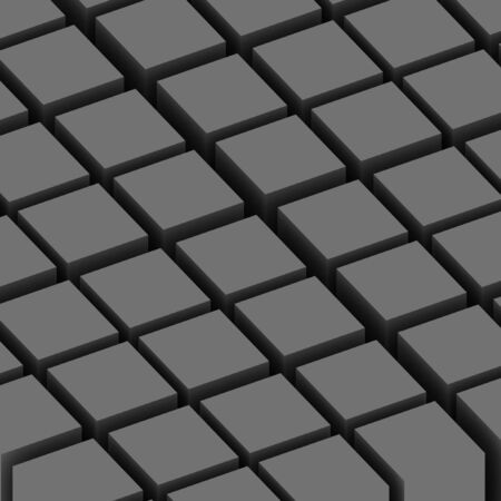 A 3d illustration of grey abstract cubes