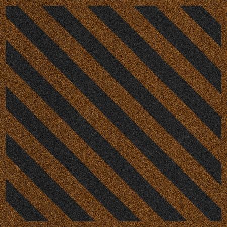 a 2d illustration of a hazard lines on pavement. illustration