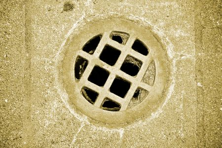 Drain hole at Fort Worden military bunker in Port Townsend Washington. Stock Photo - 5205025