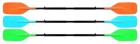 孤立したカヤック用パドルのセットに、クローズ アップ。 写真素材