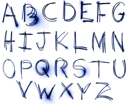 An abstract illustration of the alphabet created with light. Stock Illustration - 5571418