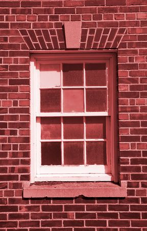 A close up on an old traditional style window. photo