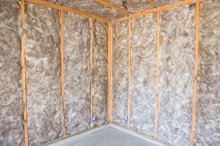 Eco-friendly insulation in a home remodel project. Standard-Bild