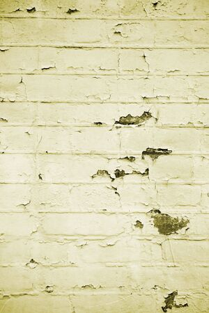A close up on an old brick wall background texture. Stock Photo