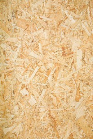 A section of plywood wall in a remodel project. Stock Photo