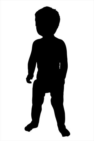 tot: An illustration of a toddler isolated on a white background.