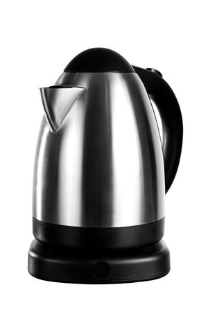 An isolated electric tea kettle on a white background. Stock Photo