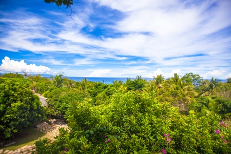 Panoramic views of the ocean from the balcony photo