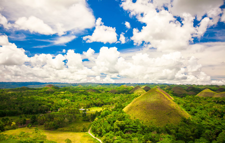 bohol: Green unusual Chocolate Hills in Bohol, Philippines