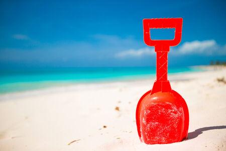 Summer kids beach toy in the sand photo
