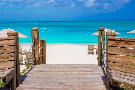 Beautiful landscape on Providenciales Island in the Turks and Caicos, Caribbean photo