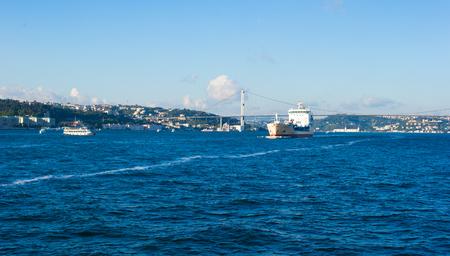 mehmet: Fatih Sultan Mehmet Bridge over the Bosphorus strait in Istanbul, Turkey