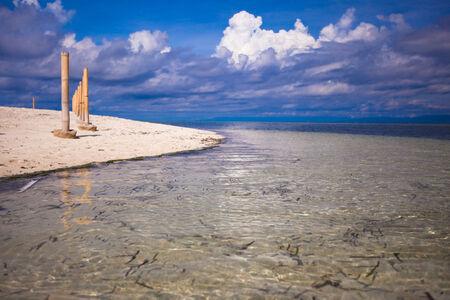 Beautiful tropical beach on desert island photo