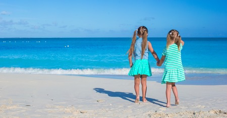 youngbaby: Little adorable girls enjoy summer beach vacation