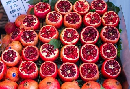 garnets: Tasty garnets at a farmers market Stock Photo