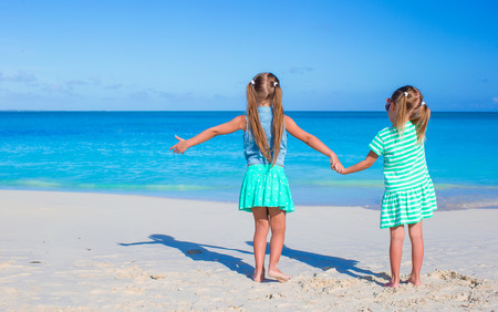 youngbaby: Little adorable girls during tropical summer vacation