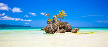 Willys rock on island Boracay, Philippines