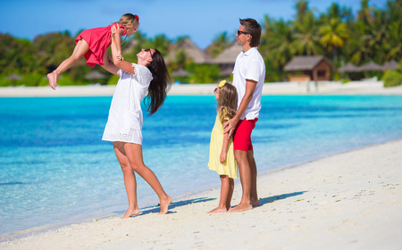 Young family on vacation Banque d'images