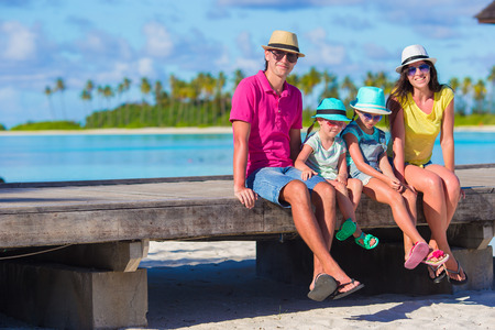 vacation  summer: Beautiful family on summer vacation