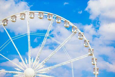 concorde: Ferris wheel Roue de Paris on the Place de la Concorde from Tuileries Garden Stock Photo