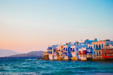 the little venice: Little Venice in Mykonos Island Greece Cyclades