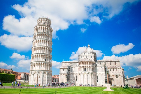 Beautiful view of leaning tower of Pisa, Italy