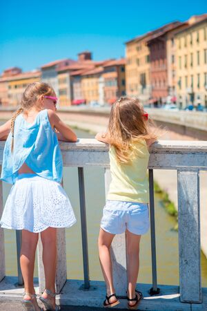 Pisa - travel to famous places in Europe, girls in famous italian city