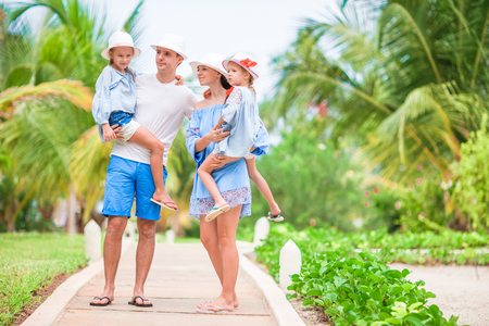 Young family on vacation Stock Photo