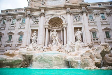 Beautiful Fountain de Trevi in Rome, Italy. The most popular area in Rome Stock Photo