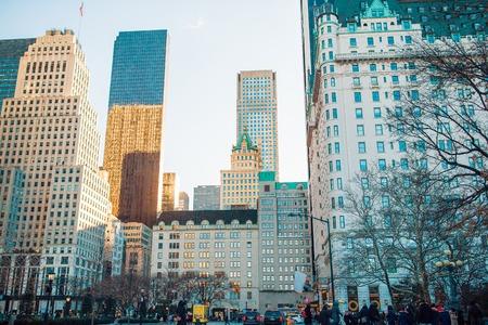 January 01th, 2018 in Manhattan, New York City. Beautiful street of New York City and America.