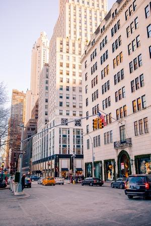 NEW YORK CITY - JAN 01 Beautiful street of New York City and America, January 01th, 2018 in Manhattan, New York City. Sajtókép