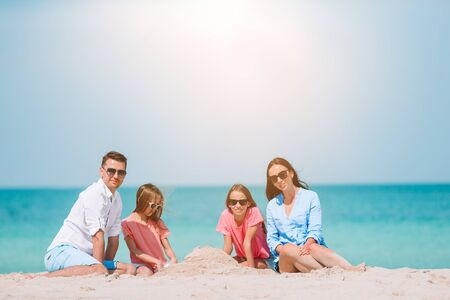 Young family on vacation have a lot of fun Standard-Bild