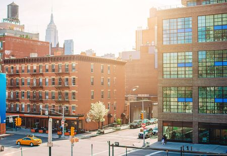 Empty streets in West Village at New York Manhattan, USA