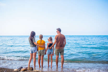 Young family on vacation have a lot of fun Stockfoto