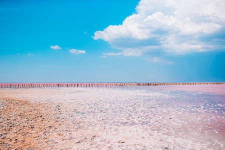 Salt lake Sasyk-Sivash in Crimea at Evpatoria