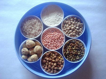 Seven kinds of grains and pulses