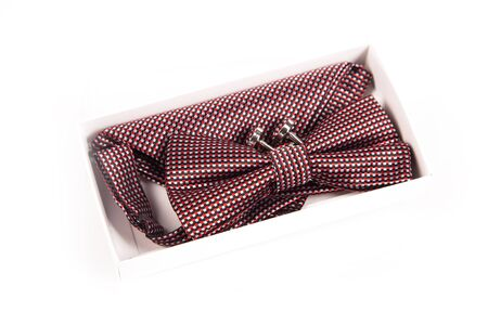 cufflinks: Bow tie, handkerchief and cufflinks. Wedding accessories groom