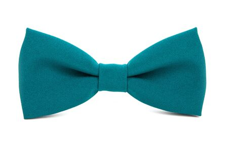respectable: Green bow tie accessory for respectable people on an isolated white background