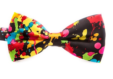 beautiful colorful male bow tie for a party or for celebrate on a white background