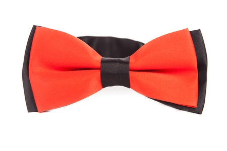 orange tie bow with black elements as decor, good for wedding Archivio Fotografico