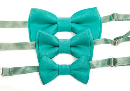 three ,solid green bow tie, for weddings, meeting, dinner, christmas, one color, for adult, kid, baby