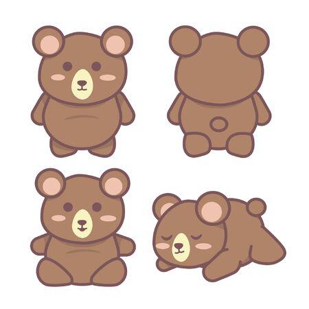 bear vector poses illustration