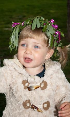 preety: Portrait of a little preety girl