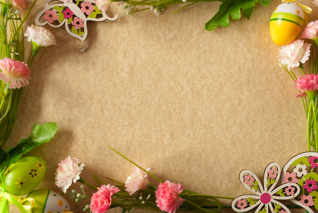 personally: Frame with colorful flower decoration Stock Photo