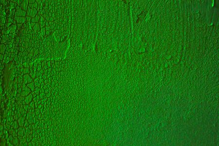 Light green wall with cracked paint texture for background or wallpaper Stock fotó