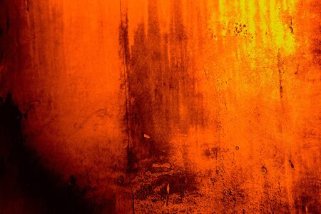 Orange colored background with textures of different shades of orange