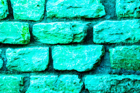 Light green natural stone wall with 3d effect