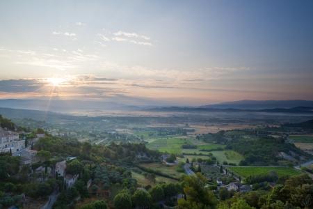 gordes: Gordes valley during sunrise