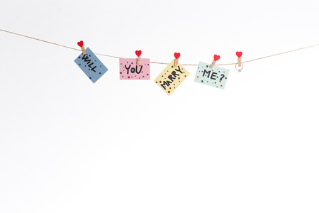 will you marry me: Will you marry me question hanged on rope